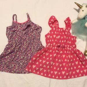 Floral and heart dresses 12 month